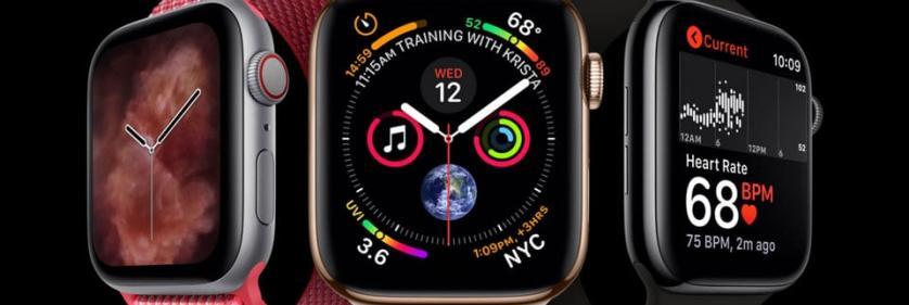 Apple Watch series 4 в стальном корпусе