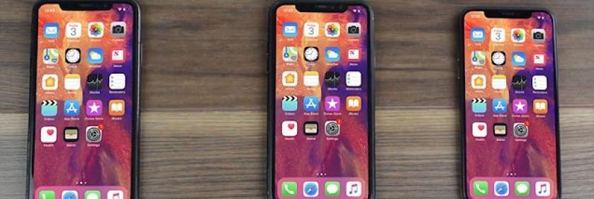 Линейка iPhone 2018 с моделью iPhone XS в центре внимания